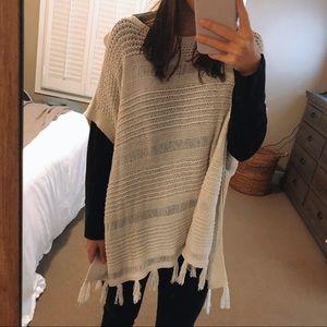 Lucky Brand crochet poncho. Size medium